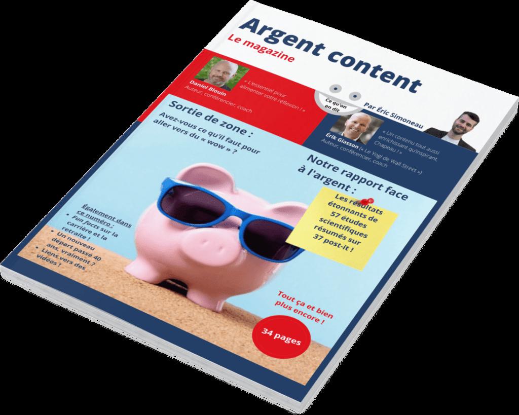 Magazine Argent content - Une job pour un don