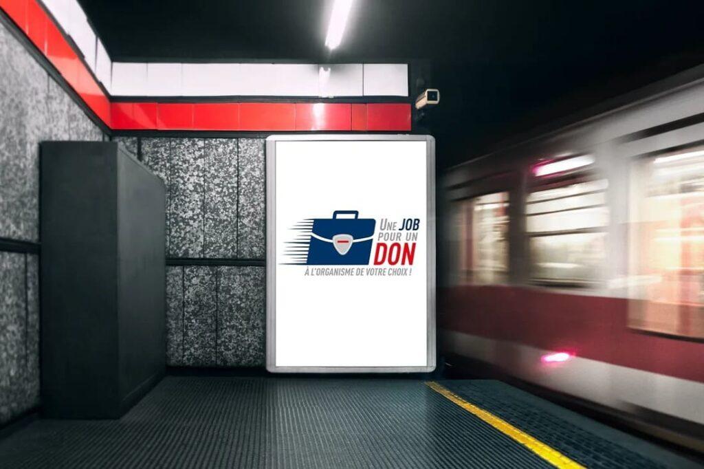 Publicité métro - Une job pour un don